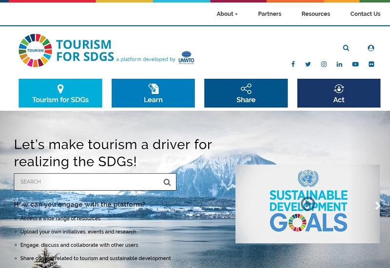 La plateforme en ligne 'Tourism for SDGs' - DR