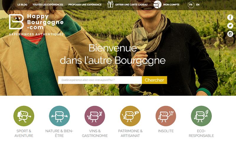 Le site Happy Bourgogne - DR