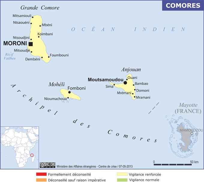 L'archipel des Comores en vigilance accrue - crédit photo : ministère de l'Europe et des Affaires étrangères - Quai d'Orsay
