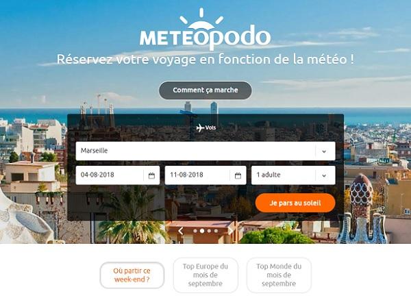 Meteopodo, une plateforme pour choisir sa destination selon la météo - Crédit photo : Meteopodo