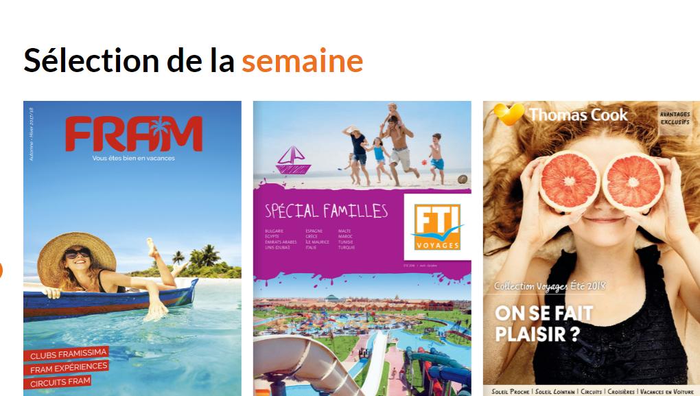 Ce concept original créé et lancé par le Groupe TourMaG.com il y a plus de 10 ans, regroupe aujourd'hui plus de 200 brochures et représente près de 80% de l'offre touristique française.