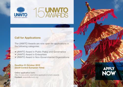 Appel à candidatures pour la quinzième édition des prix de l'OMT récompensant l'innovation et la durabilité dans le tourisme - DR