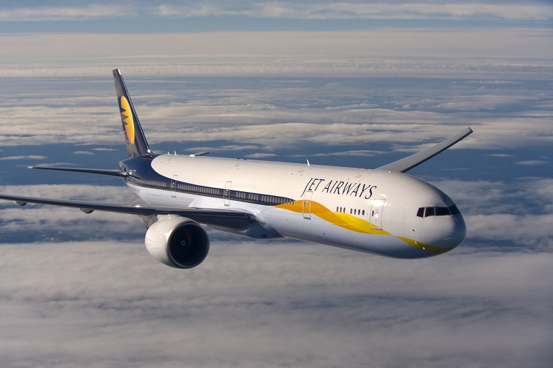 Un Boeing 777 de Jet Airways - DR