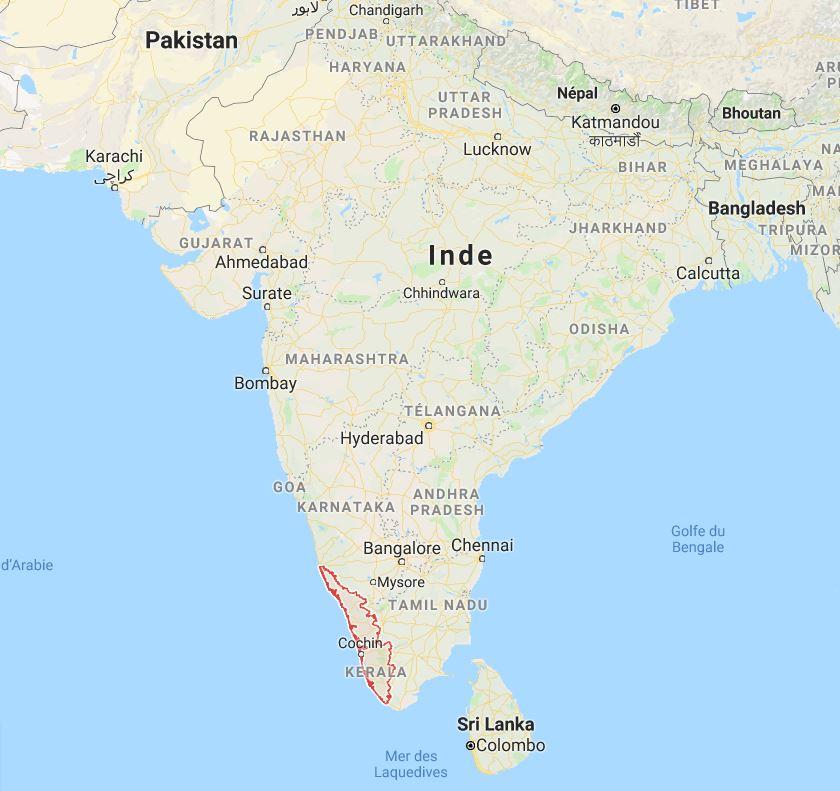 Inde : innondations dans le Kerala