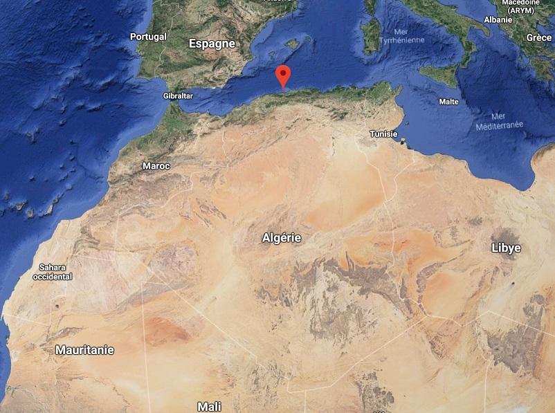 Une source de la région de Tipasa serait à l'origine de l'épidemie de choléra en Algérie - image google map