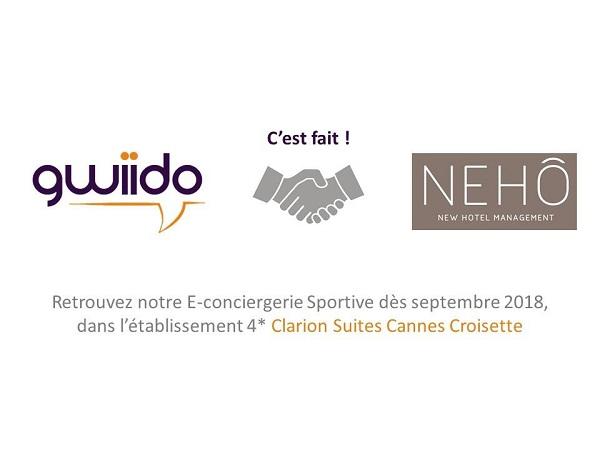Gwiido signe avec le Nehô Group - Crédit photo : compte Facebook de Gwiido