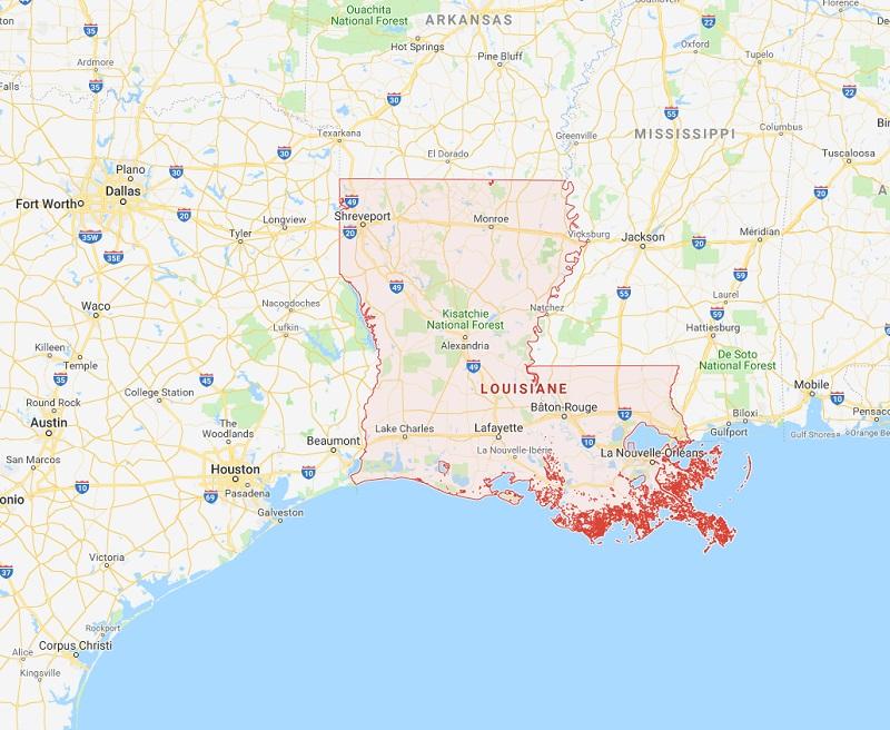 Le Quai d'Orsay informe que la tempête Gordon devrait se déplacer à l'ouest de la Floride et de la Géorgie et toucher la Louisiane dans la soirée du mardi 4 septembre - DR