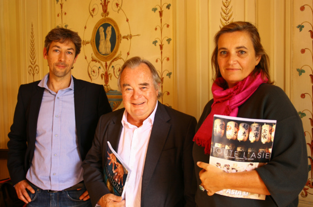 Jean-Paul Chantraine, fondateur et PDG d'Asia, entouré de ses directeurs de production Virginie Gerbault et Yannick Barde - DR : H.L.