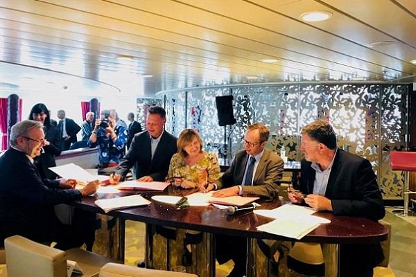 La ratification de la charte d'écoresponsabilité entre La Méridionale et l'Agence française pour la biodiversité - Crédit photo : La Méridionale