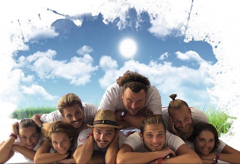 """L'équipe d'animation du Club Lookéa Princess Sun à Rhodes va relever des défis pendant 24h en live sur Facebook pour récolter des fonds pour l'association """"Un sourire pour la vie"""" - DR"""