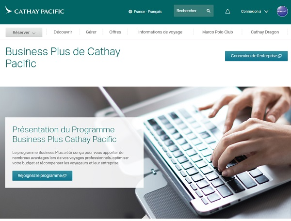 "Cathay Pacific lance le programme ""Business Plus"" - DR"