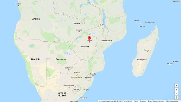 La capitale du Zimbabwe est placée en état d'urgence par le gouvernement - Crédit photo : Google Maps
