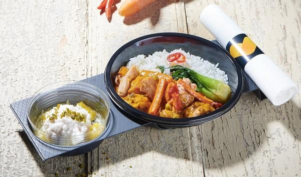 Idée de plateau-repas par Newrest - Crédit photo : Newrest