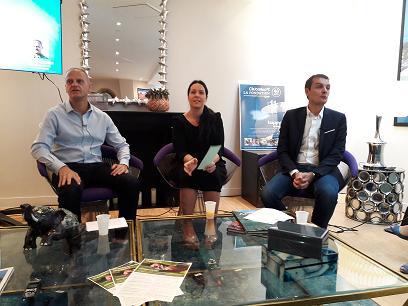 De gauche à droite Olivier Savinelli (Harris Interactive), Elsa Godart docteure en philosophie et en psychologie et Sylvain Rabuel Directeur Général France Europe Afrique de Club Med. MS.