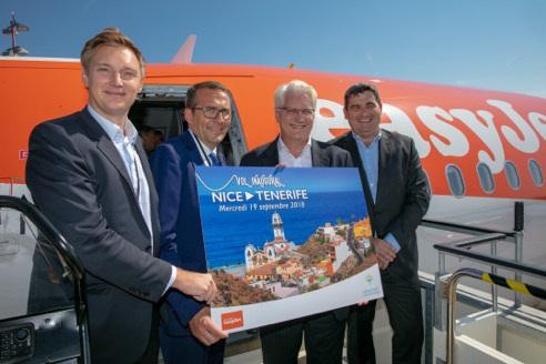 François Bacchetta, Directeur Général d'easyJet en France fête l'arrivée d'un 5e appareil à Nice - DR