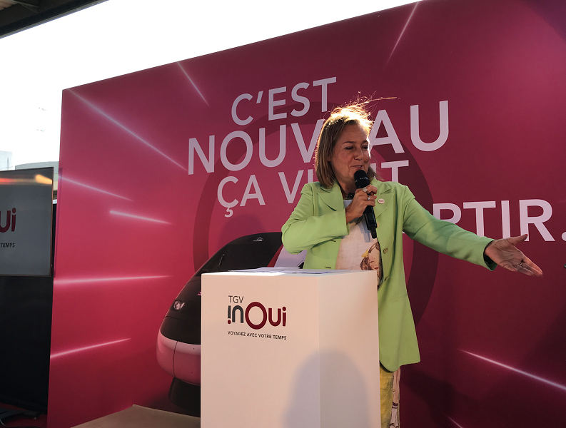 Rachel Picard, directrice de voyages-sncf, jeudi 20 septembre à Paris © PG TM
