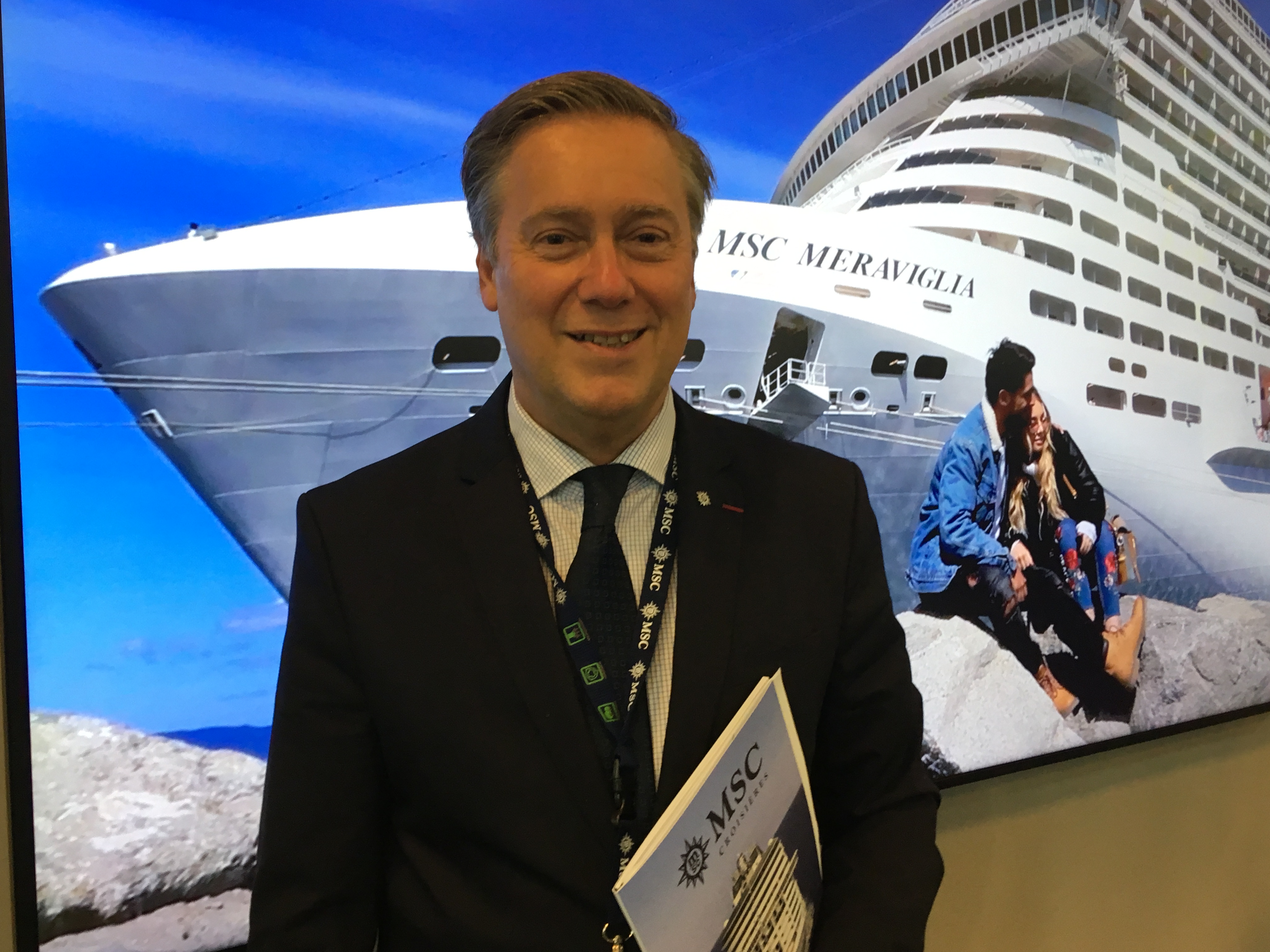 Patrick Pourbaix, directeur général de MSC Croisières France, Belgique et Luxembourg. - CL