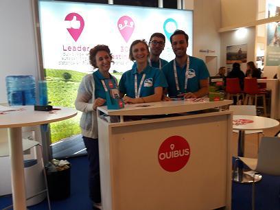 L'équipe de OUIBUS à la rencontre de la distribution.