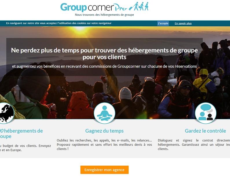 Groupcorner Pro permet de prendre en charge les tâches de gestion chronophages (recherches, appels et relances des établissements...) - DR : Capture d'écran GroupCornerPro