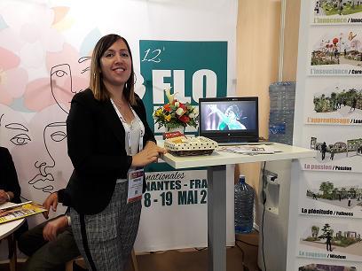 Laureen Sauzeau représentante du Comité des Floralies.