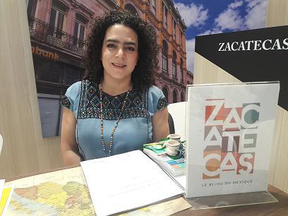 Gabriela Ibarra- Ministre adjointe à la promotion touristique de l'Etat de Zacatecas.