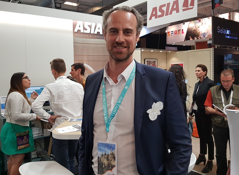 Guillamue Linton sur le stand d'Asia à l'occasion de l'IFTM Top Resa - DR CE