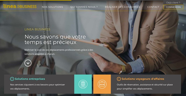 Linea Business met en ligne son site internet - Crédit photo : Linea Business
