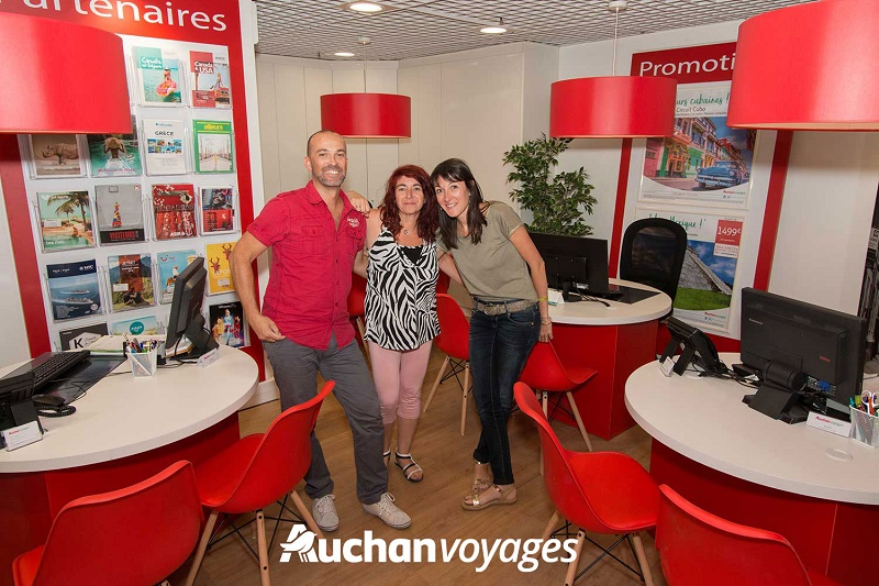 L'agence de voyages Auchan Voyages d'Aubagne dans les Bouches-du-Rhône - DR