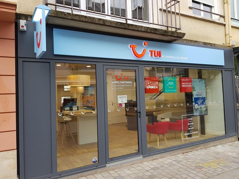 TUI France ambitionne d'ouvrir 70 nouveaux TUI Store dans son réseau mandataires. Sur la photo, l'agence de Saint-Lô (Manche) en septembre 2018. - DR TUI France
