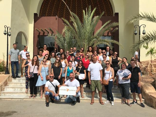 Les participants de l'éductour logés au Mondiclub Aladin Djerba - Photo DR Mondial Tourisme