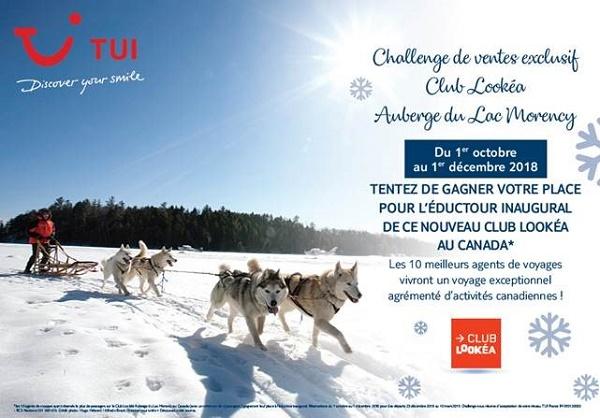 TUI organise un challenge des ventes sur le « Club Lookéa Auberge du Lac Morency » - Crédit photo : TUI