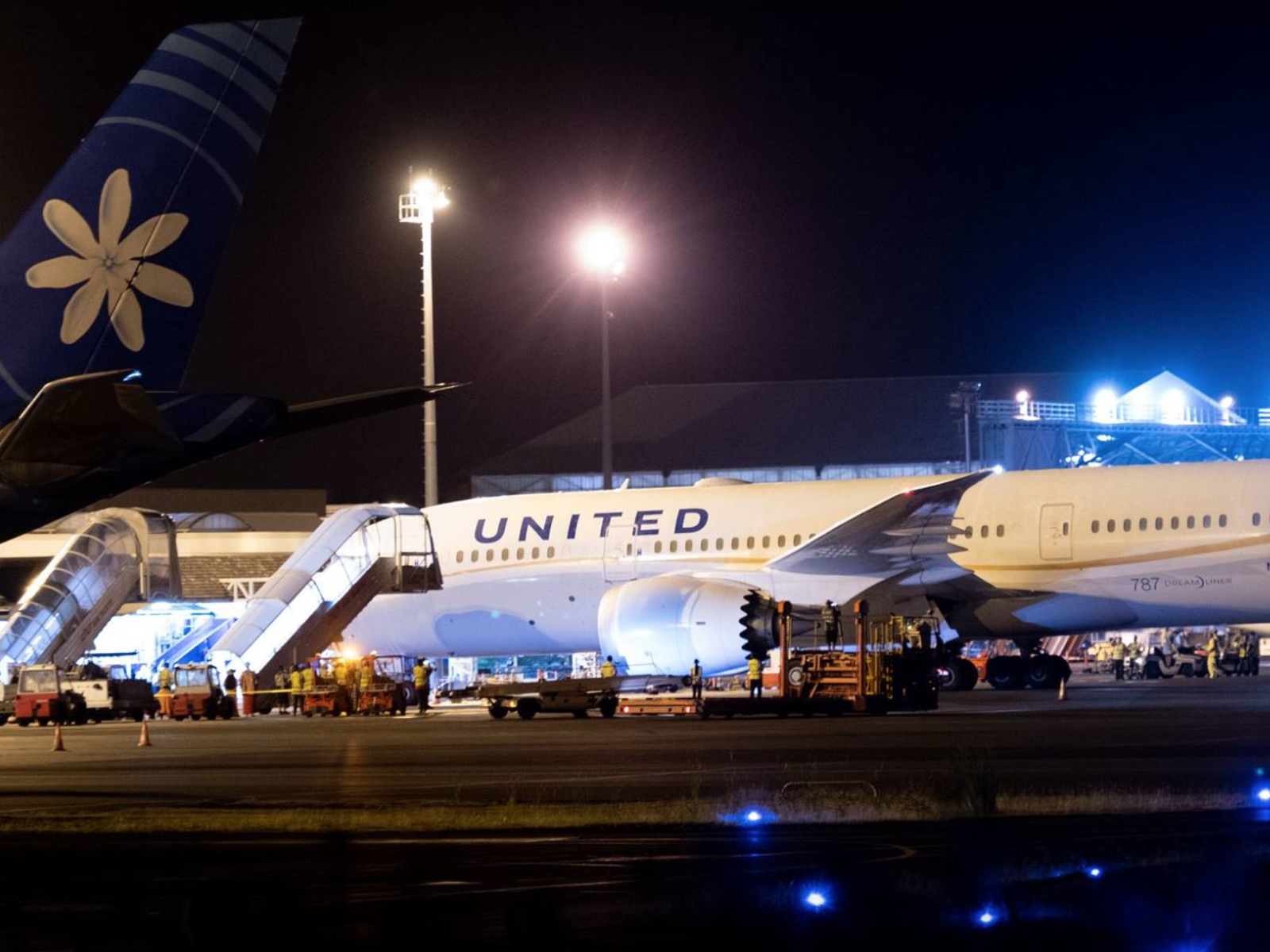 Un 787-800 d'United Airlines, à Tahiti Faa'a mardi 30 octobre © Christopher Liau - PYF Spotters