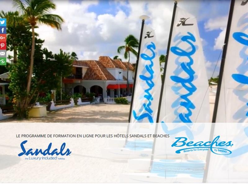 La nouvelle plateforme numérique, rapide, ludique et interactive, intègre deux modules de base - DR : Sandals Resorts