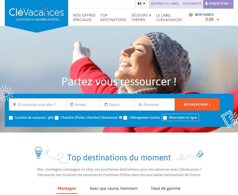 Les deux partenaires s'appuieront sur une plateforme de distribution commune : clevacances.com - Capture écran