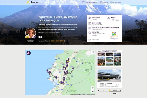 Ublooo transforme le carnet de voyages en levier de vente de séjours - Crédit photo : Ublooo