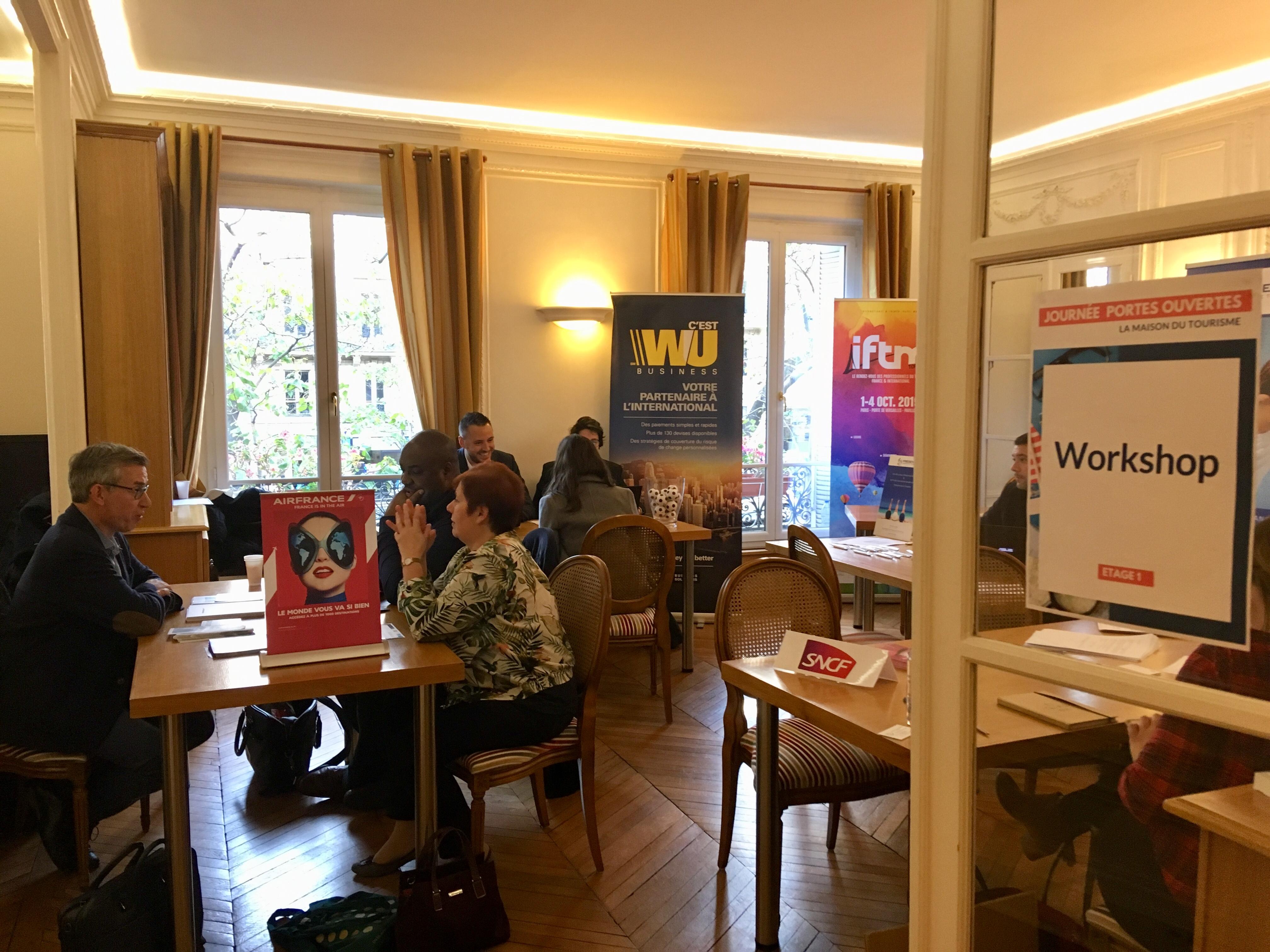 Un workshop a réuni plusieurs partenaires de l'APST et des EdV, ce jeudi 8 novembre 2018, à la journée portes ouvertes de la Maison du tourisme. - CL
