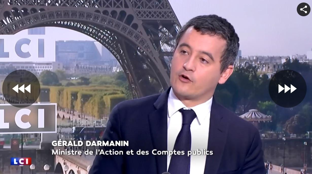 Gérald Darmanin sur LCI mardi 6 novembre 2018 - DR LCI capture écran