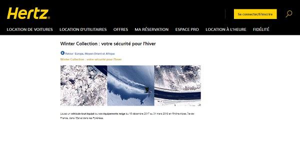 Hertz France propose à ses clients des offres spéciales pour l'hiver - Crédit photo : Hertz