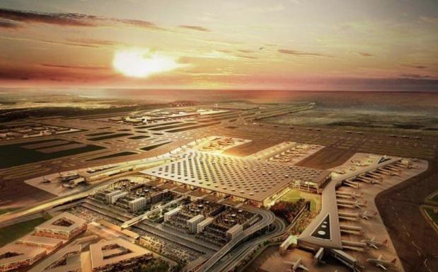 Situé à 35 km d'Istanbul, au bord de la mer Noire, le nouvel aéroport deviendra le plus grand du monde © Turkish Airlines