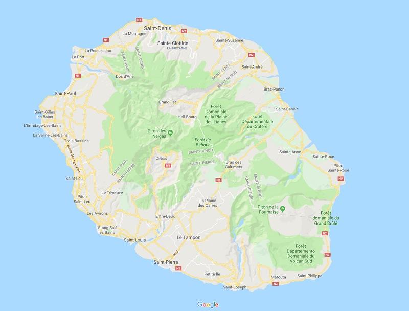 Comme en cas de cyclone, les pros du tourisme ont activé leur cellule de crise à La Réunion. Depuis samedi, ils œuvrent en continu pour assurer le séjour de leurs clients - DR : Google Maps