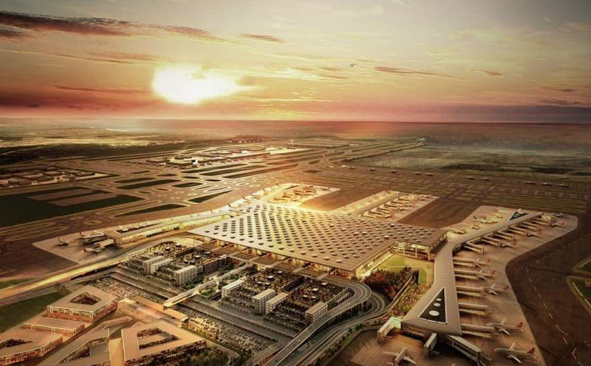 Inauguré le 29 octobre 2018, le nouvel aéroport d'Istanbul deviendra le plus grand du monde. © Turkish Airlines