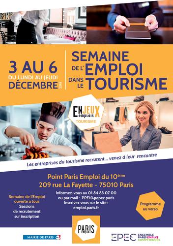 paris lance la semaine de l emploi dans le tourisme