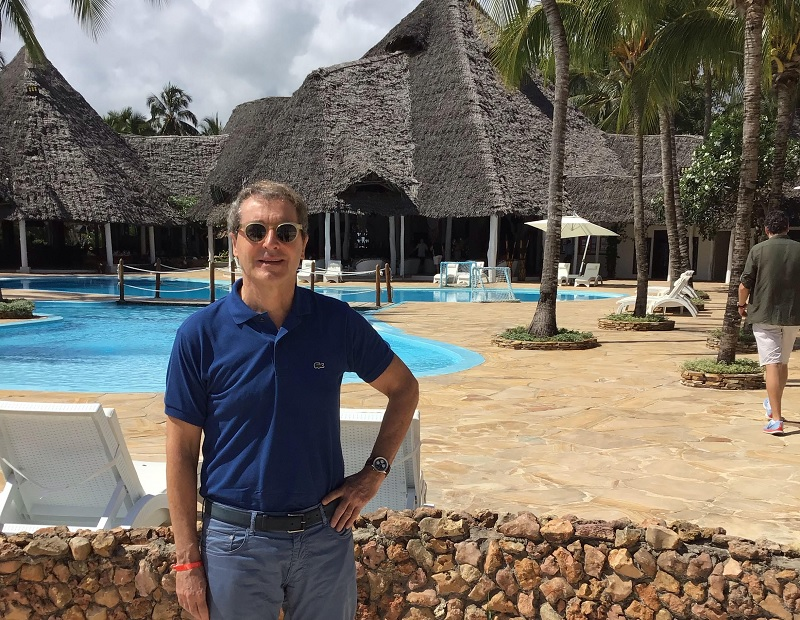 Pascal de Izaguirre, PDG de TUI France pour lancement du Le Club de Zanzibar logé au Kiwengwa Beach Resort  - Photo MW