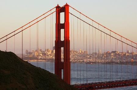 Le célèbre pont de San Francisco, le Golden Gate Bridge - DR