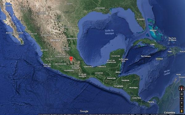 Mexique, le Quai d'Orsay appelle à la prudence pour les fêtes de fin d'année - Crédit photo Google Maps