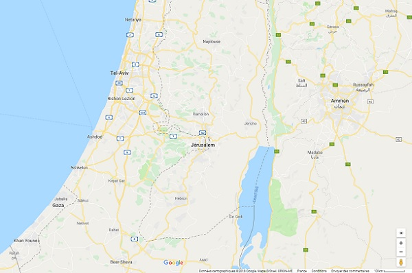 Cisjordanie, le Quai d'Orsay alerte sur une brusque montée des tensions - Crédit photo : Google Maps