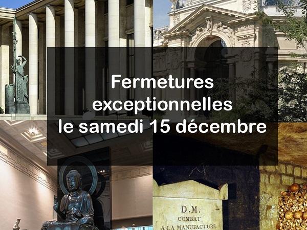 Les musées propriétés de la mairie de Paris seront fermés samedi 15 décembre - Crédit photo : compte Twitter @parismusees