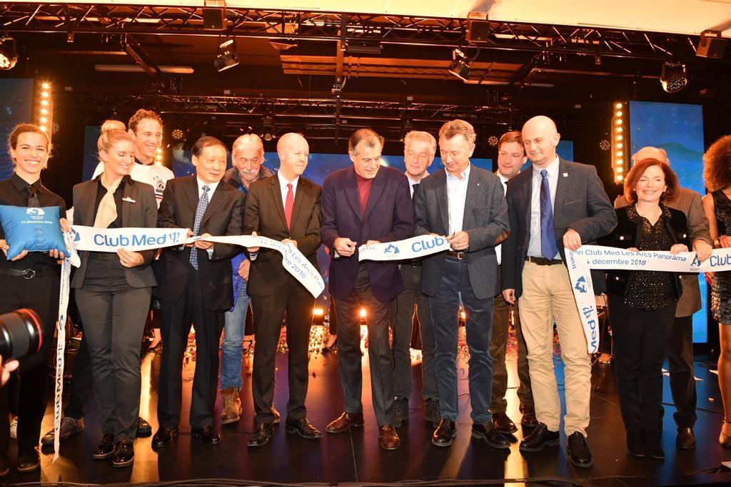 L'inauguration du Club Med les Arcs Panorama, l'un des plus grands resorts de montagne au monde, en présence de LI Jinzao, vice-ministre Chinois de la Culture et du Tourisme - Photo Club Med