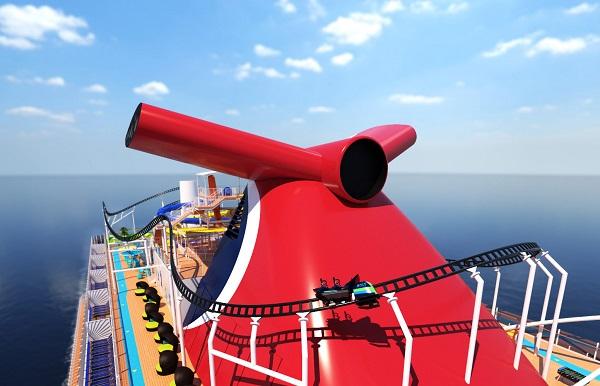 Carnival Cruise Line, les 1ères montagnes russes sur la mer en 2020 (vidéo) - Crédit photo Carnival Cruise Line