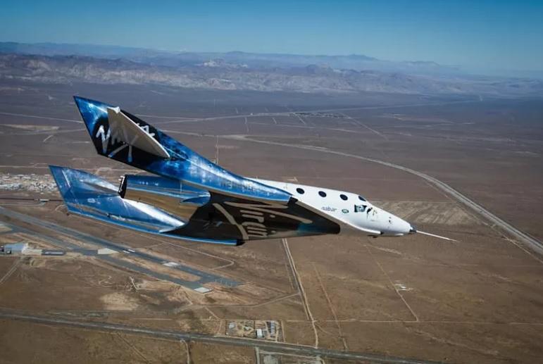 Le VSS Unity est parvenu ce vendredi 13 décembre à atteindre une altitude de 82.7 km, après avoir été largué en vol par son avion porteur - Image from Virgin Galactic